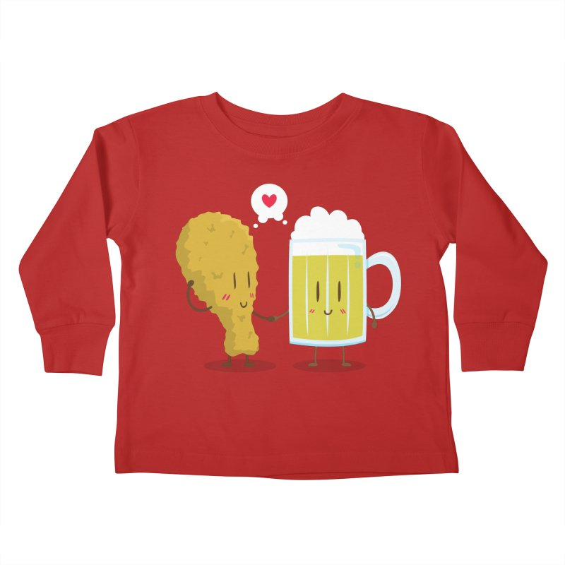 Fried Chicken + Beer = Love Kids Toddler Longsleeve T-Shirt by hookeeak's Artist Shop