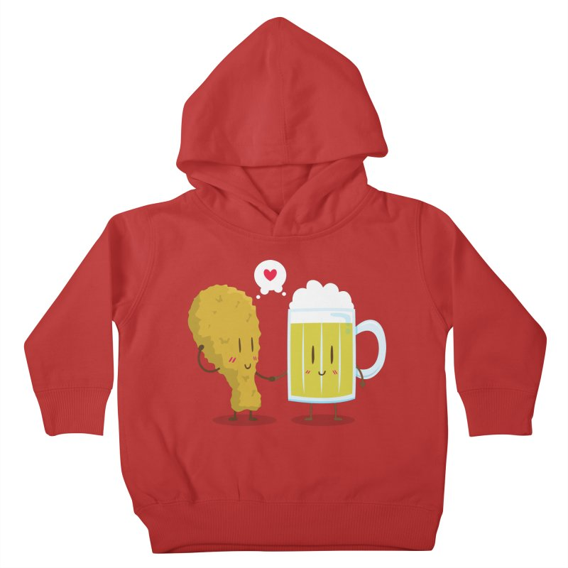 Fried Chicken + Beer = Love Kids Toddler Pullover Hoody by hookeeak's Artist Shop