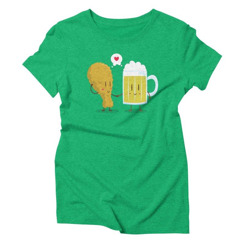 Fried Chicken + Beer = Love Women's Triblend T-Shirt by hookeeak's Artist Shop