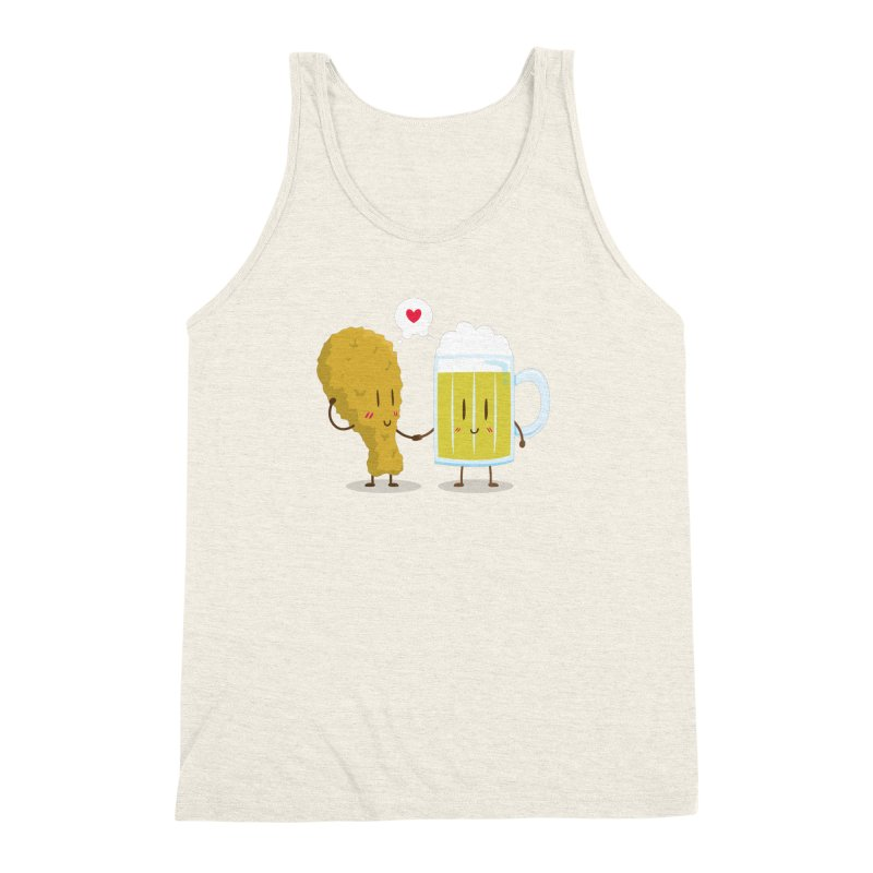 Fried Chicken + Beer = Love Men's Triblend Tank by hookeeak's Artist Shop