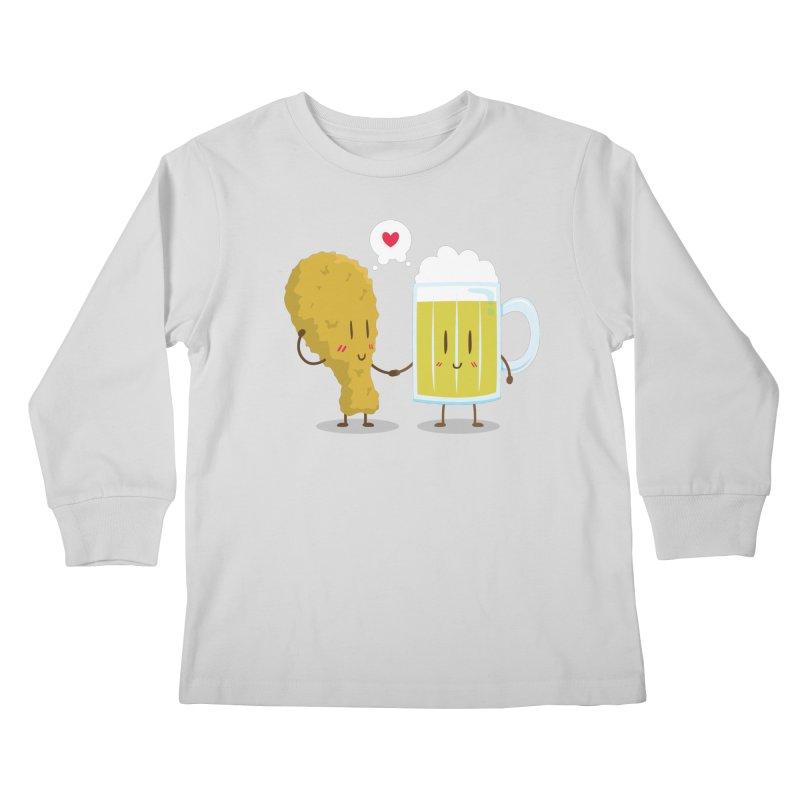 Fried Chicken + Beer = Love Kids Longsleeve T-Shirt by hookeeak's Artist Shop