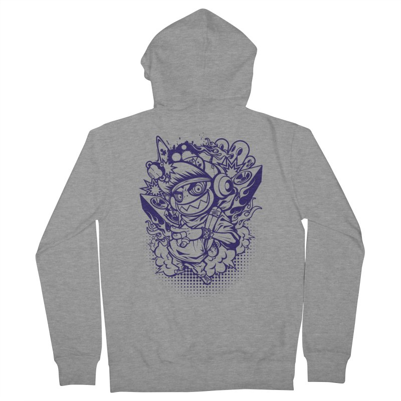CRAZY MONKEY BEAT Men's Zip-Up Hoody by hookeeak's Artist Shop
