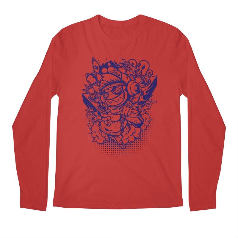 CRAZY MONKEY BEAT Men's Longsleeve T-Shirt by hookeeak's Artist Shop
