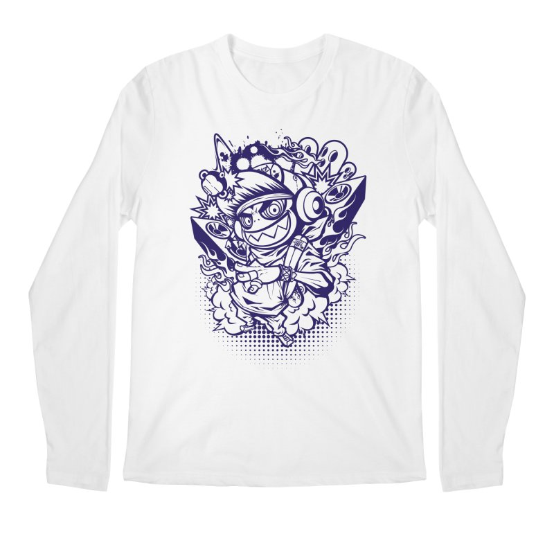 CRAZY MONKEY BEAT Men's Longsleeve T-Shirt by hookeeak's Artist Shop
