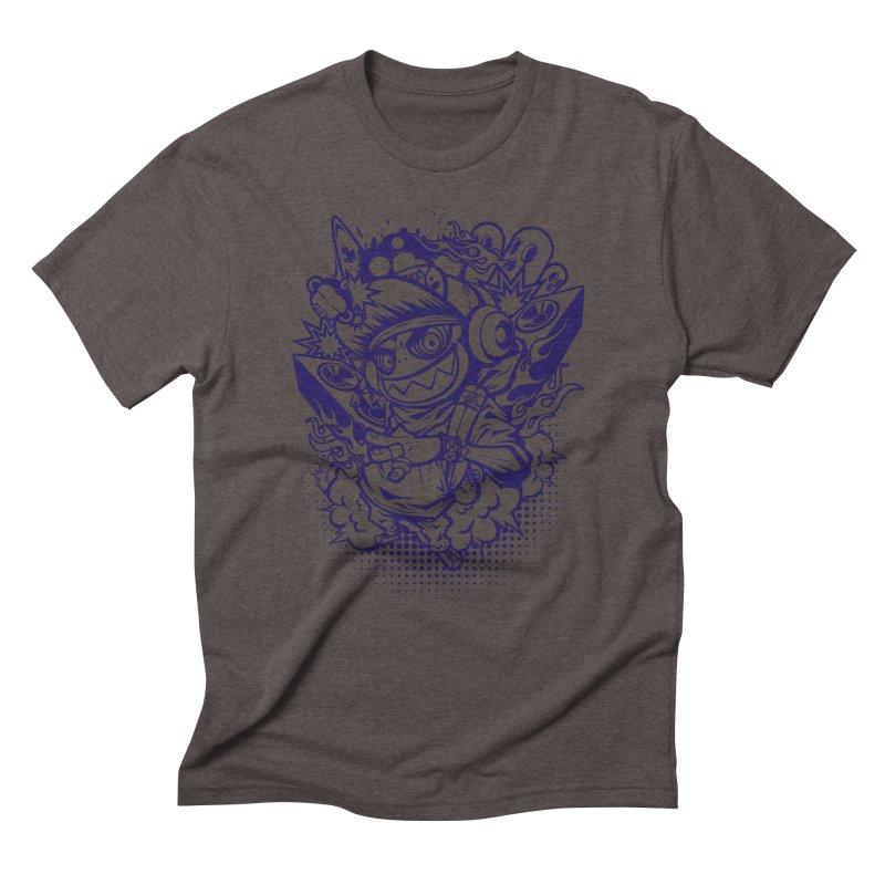 CRAZY MONKEY BEAT Men's Triblend T-shirt by hookeeak's Artist Shop