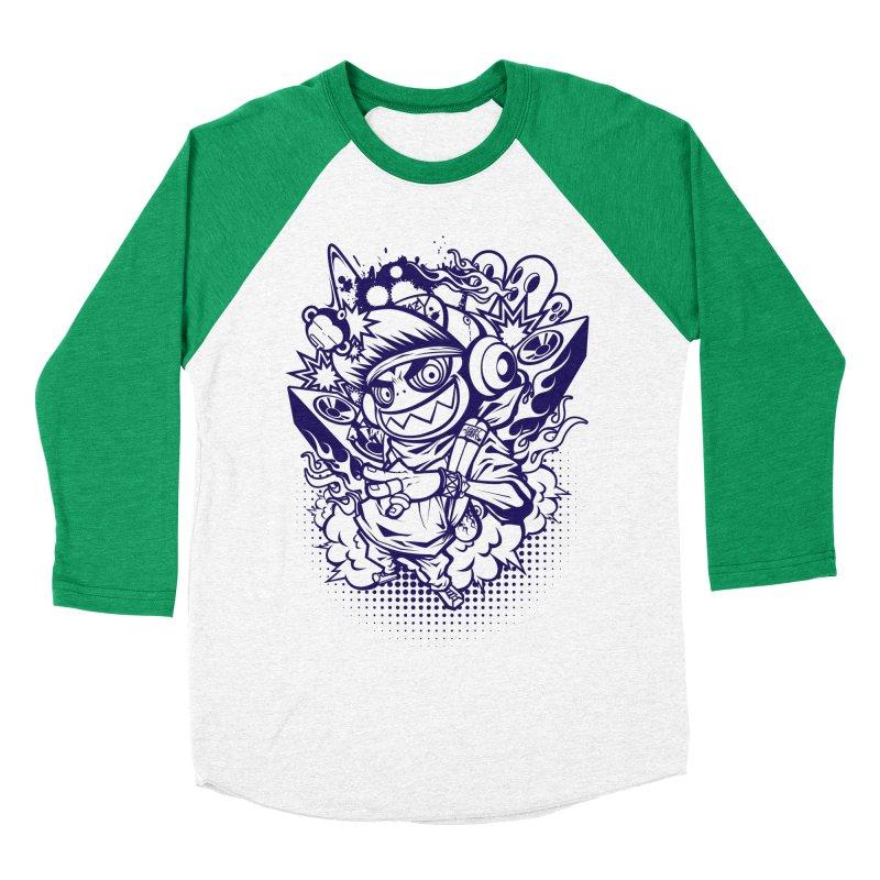 CRAZY MONKEY BEAT Women's Baseball Triblend T-Shirt by hookeeak's Artist Shop