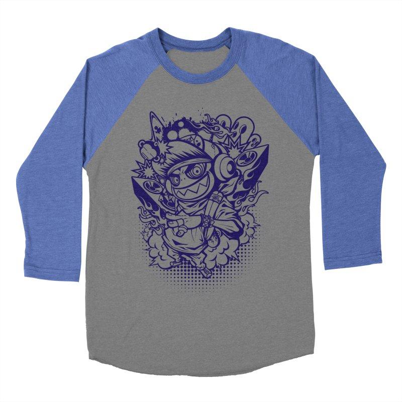 CRAZY MONKEY BEAT Men's Baseball Triblend T-Shirt by hookeeak's Artist Shop