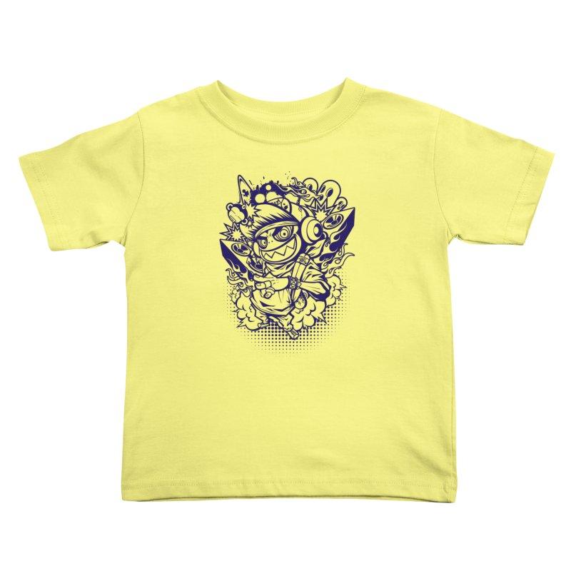 CRAZY MONKEY BEAT Kids Toddler T-Shirt by hookeeak's Artist Shop