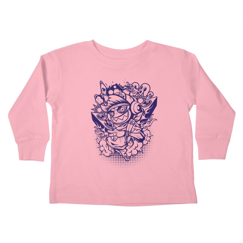 CRAZY MONKEY BEAT Kids Toddler Longsleeve T-Shirt by hookeeak's Artist Shop
