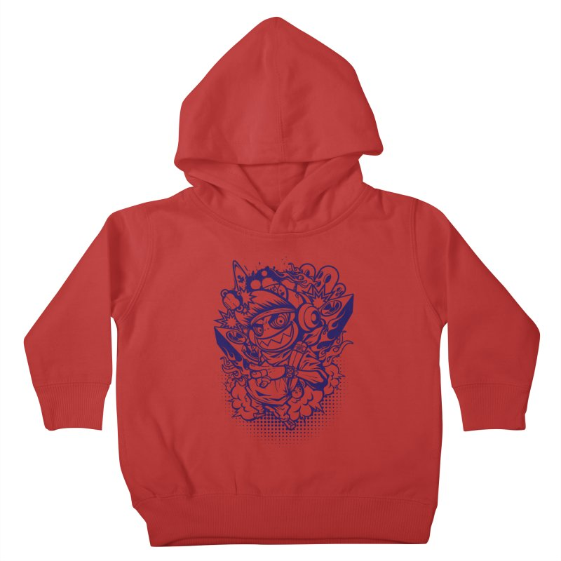 CRAZY MONKEY BEAT Kids Toddler Pullover Hoody by hookeeak's Artist Shop