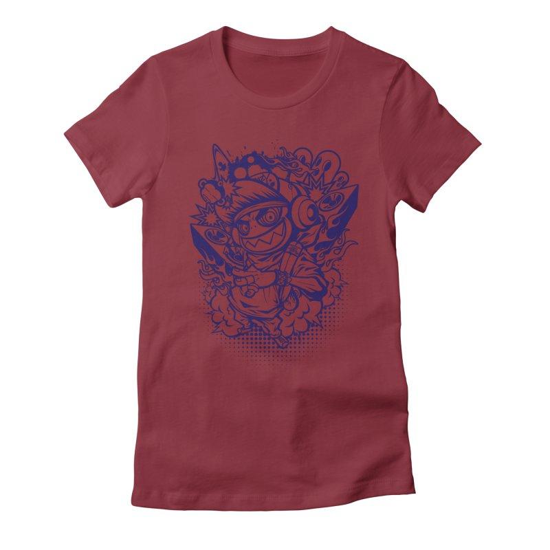 CRAZY MONKEY BEAT Women's Fitted T-Shirt by hookeeak's Artist Shop