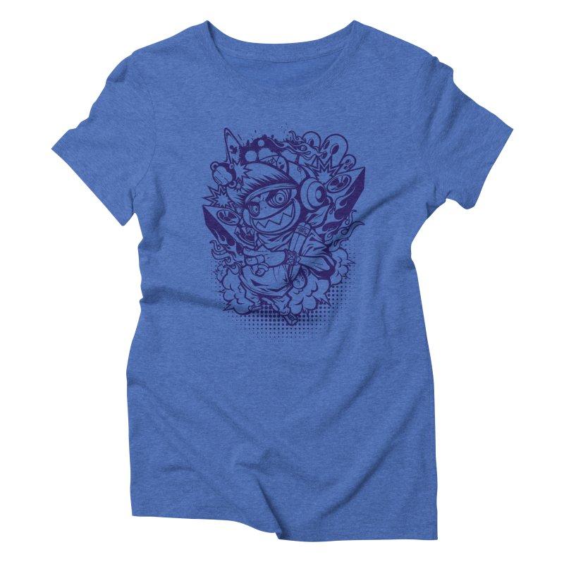 CRAZY MONKEY BEAT Women's Triblend T-shirt by hookeeak's Artist Shop
