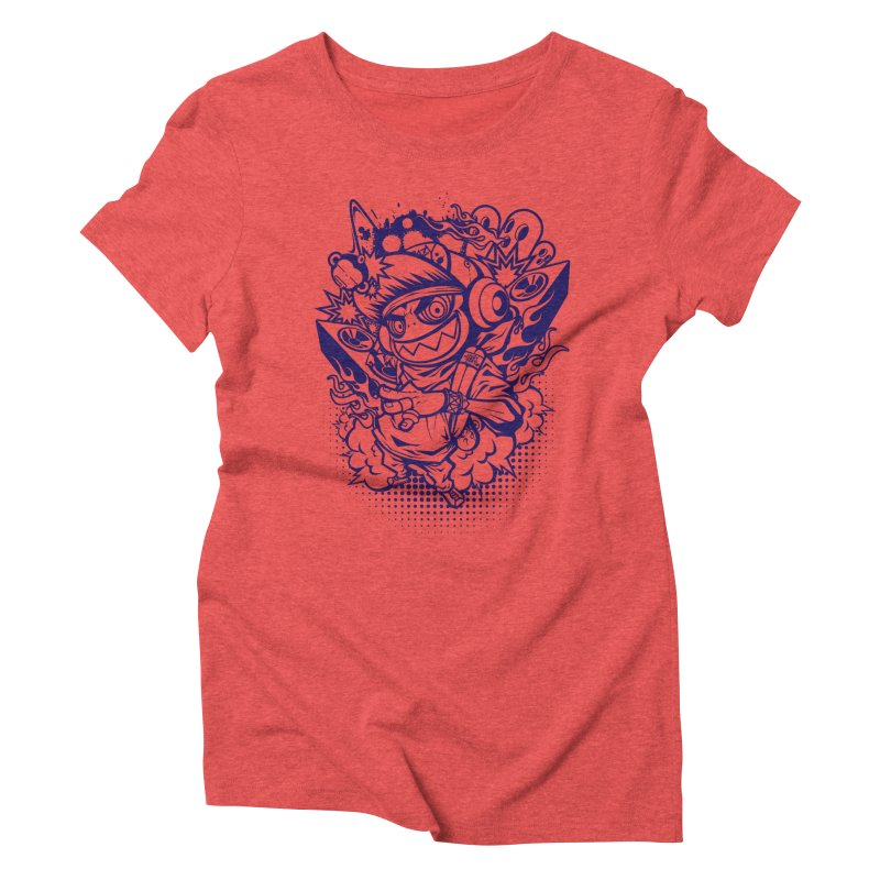 CRAZY MONKEY BEAT Women's Triblend T-shirt by hookeeak's Artist Shop