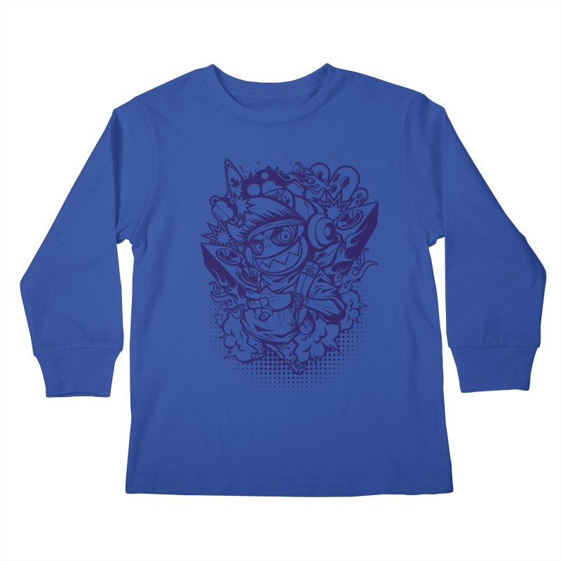 CRAZY MONKEY BEAT Kids Longsleeve T-Shirt by hookeeak's Artist Shop
