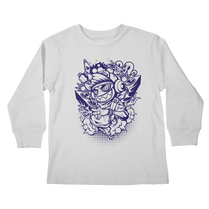 CRAZY MONKEY BEAT Kids Longsleeve T-Shirt by hookeeak's Artist Shop