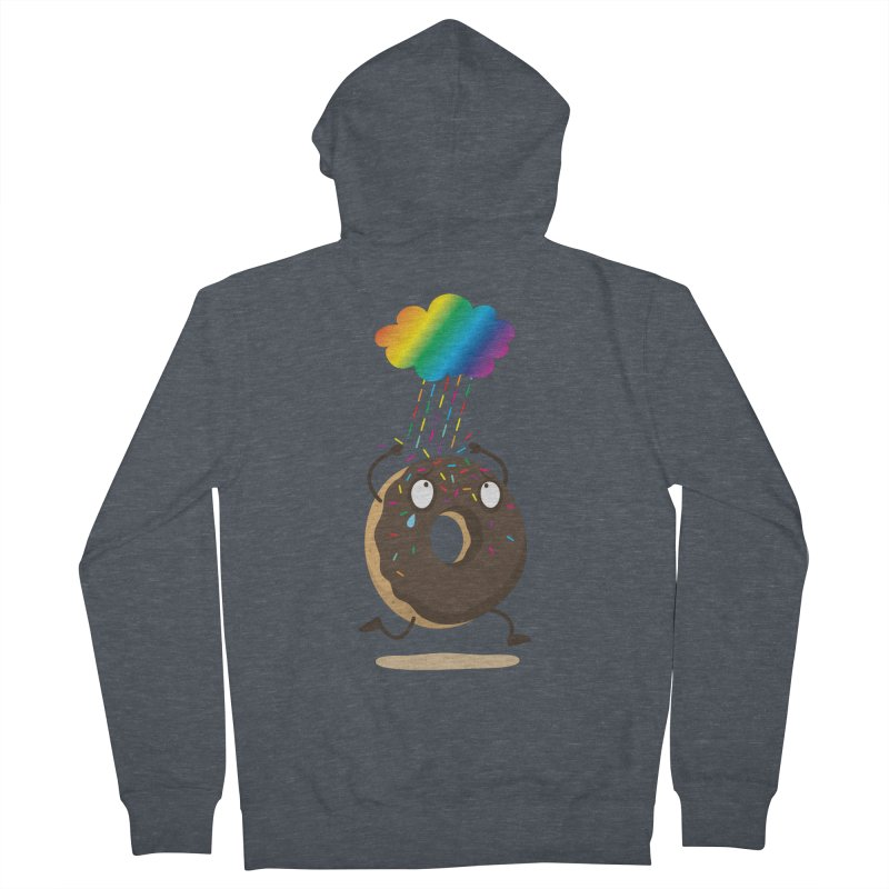 Rainbow Sugar Rain Women's Zip-Up Hoody by hookeeak's Artist Shop