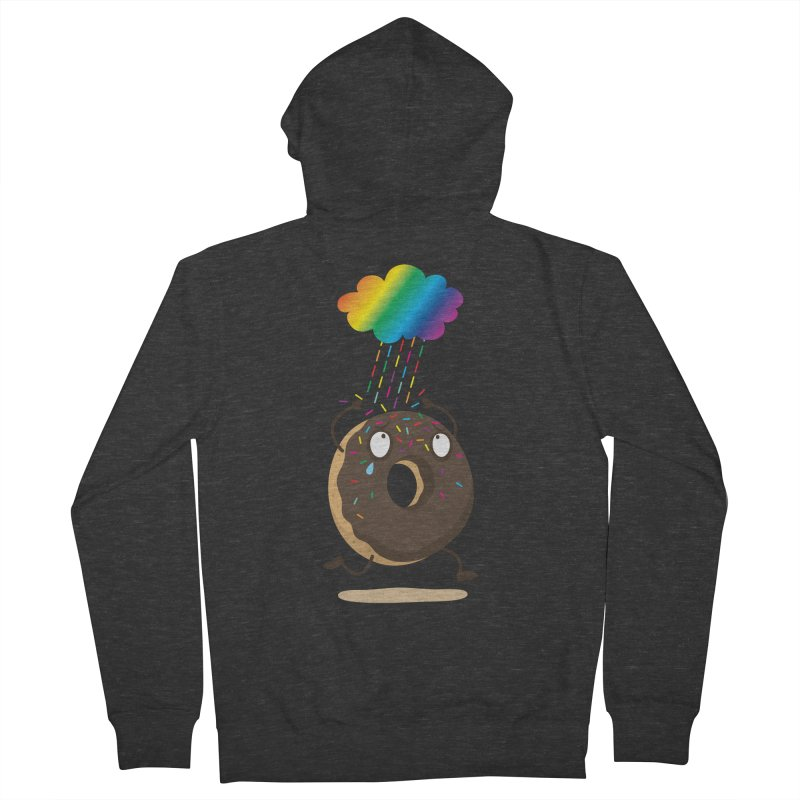 Rainbow Sugar Rain Men's Zip-Up Hoody by hookeeak's Artist Shop
