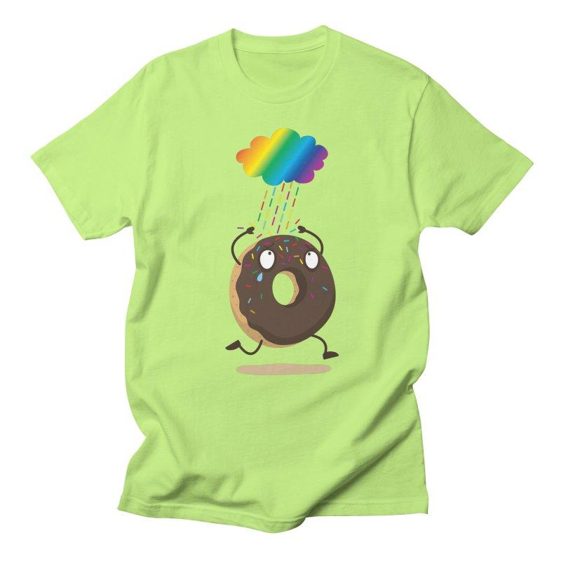 Rainbow Sugar Rain Men's T-Shirt by hookeeak's Artist Shop