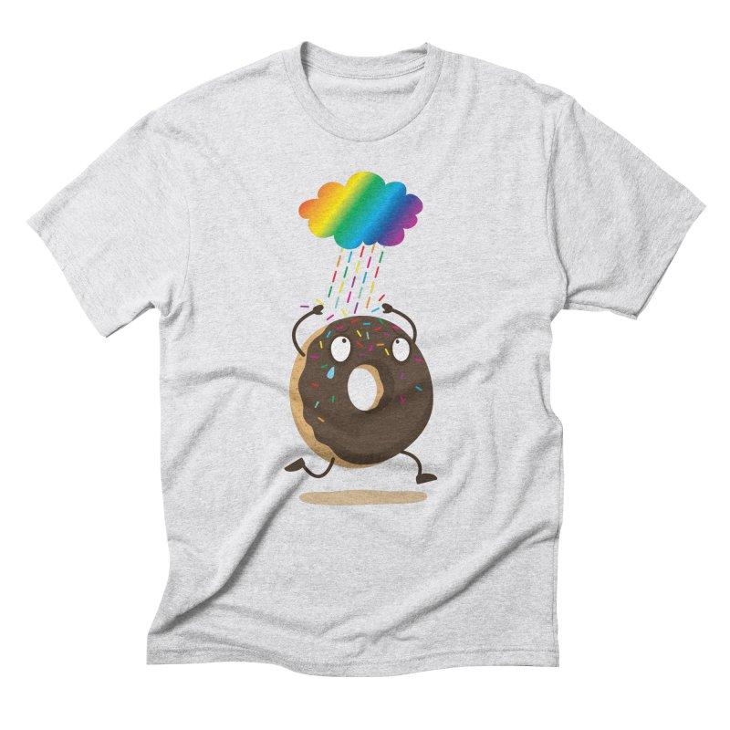 Rainbow Sugar Rain Men's Triblend T-shirt by hookeeak's Artist Shop