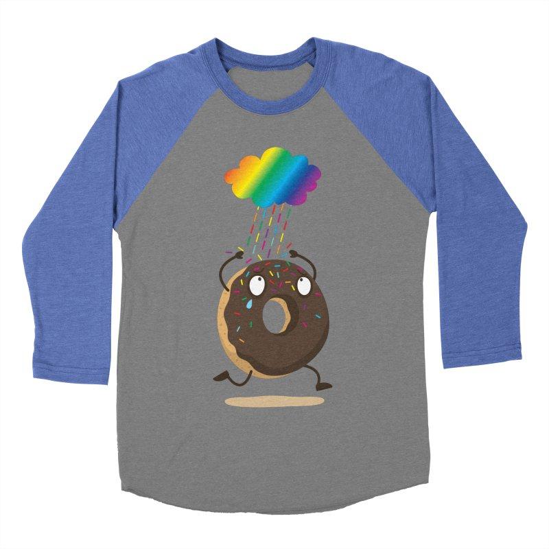 Rainbow Sugar Rain Men's Baseball Triblend T-Shirt by hookeeak's Artist Shop