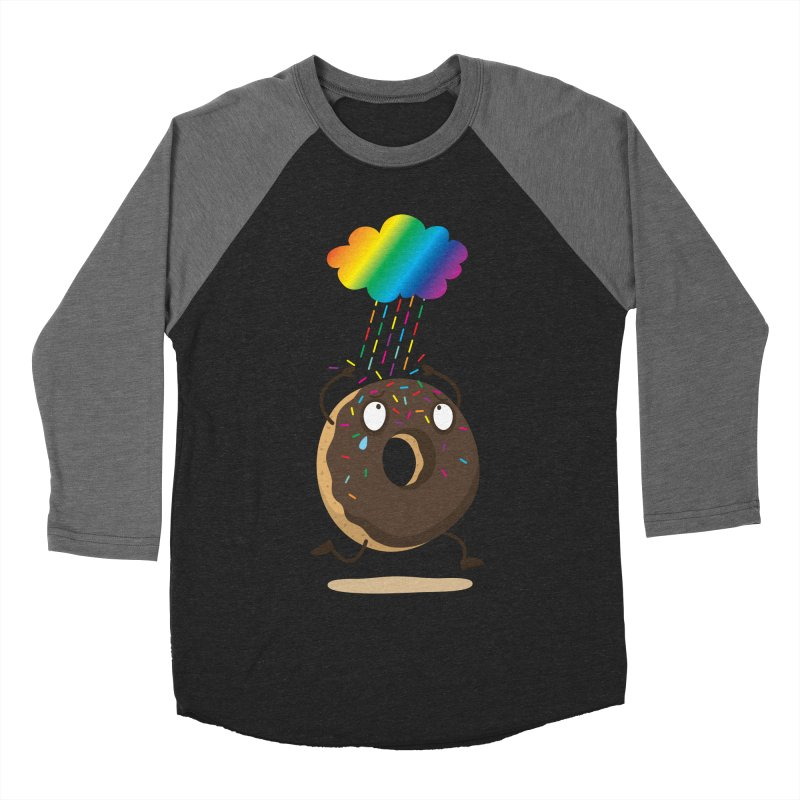 Rainbow Sugar Rain Men's Baseball Triblend T-Shirt by hookeeak's Artist Shop