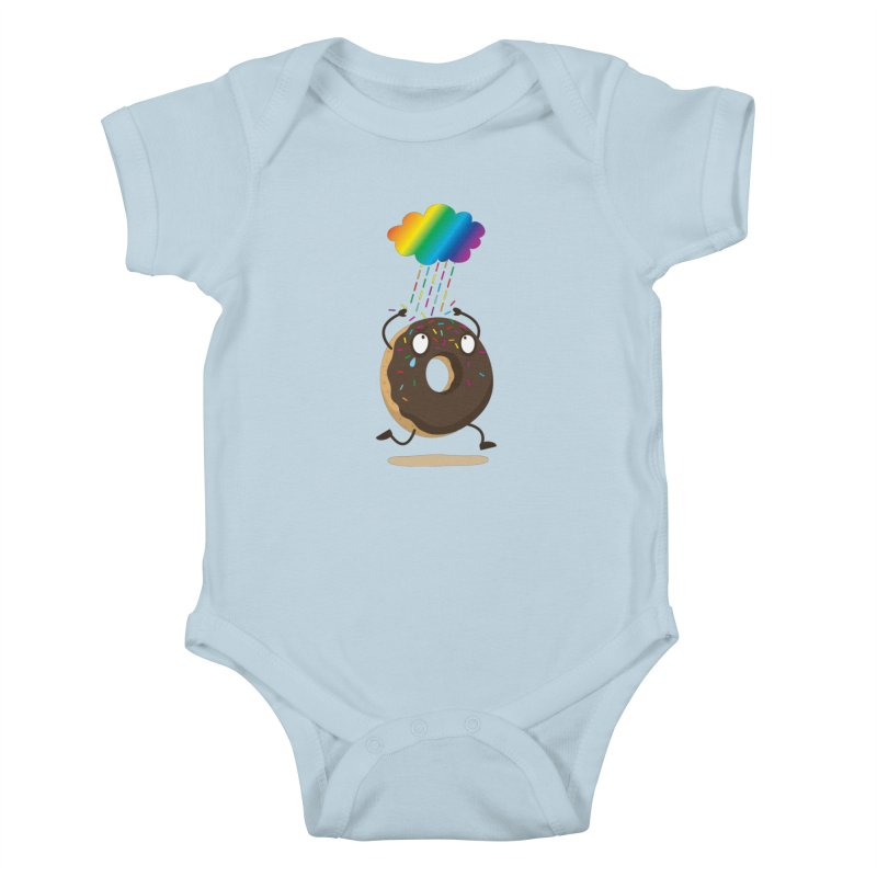 Rainbow Sugar Rain Kids Baby Bodysuit by hookeeak's Artist Shop