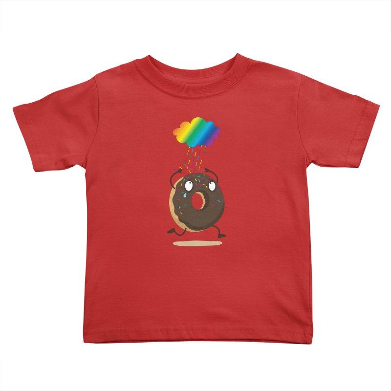 Rainbow Sugar Rain Kids Toddler T-Shirt by hookeeak's Artist Shop