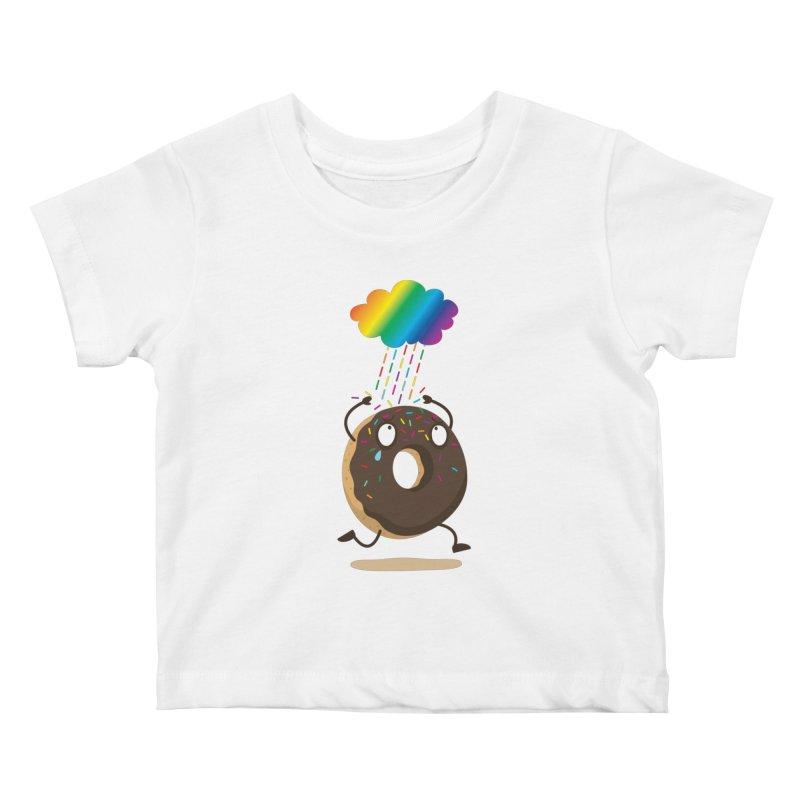 Rainbow Sugar Rain Kids Baby T-Shirt by hookeeak's Artist Shop