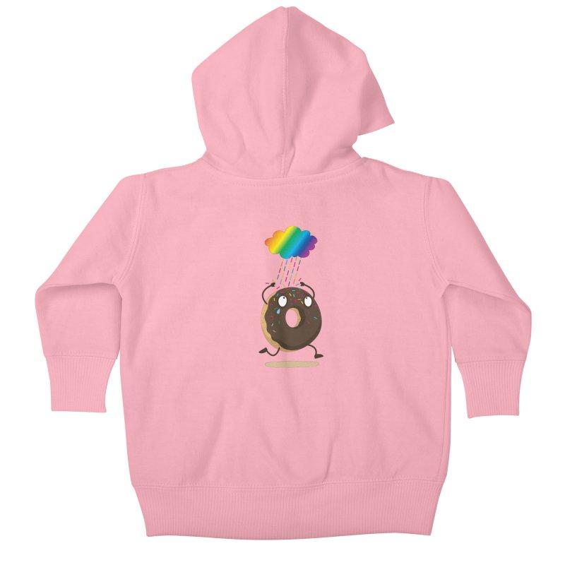 Rainbow Sugar Rain Kids Baby Zip-Up Hoody by hookeeak's Artist Shop