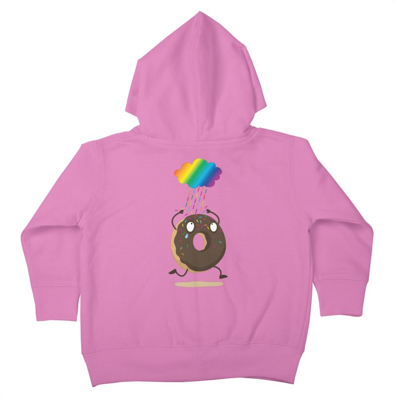 Rainbow Sugar Rain Kids Toddler Zip-Up Hoody by hookeeak's Artist Shop