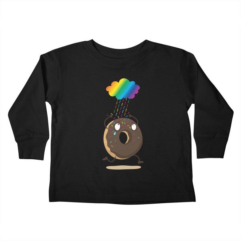 Rainbow Sugar Rain Kids Toddler Longsleeve T-Shirt by hookeeak's Artist Shop