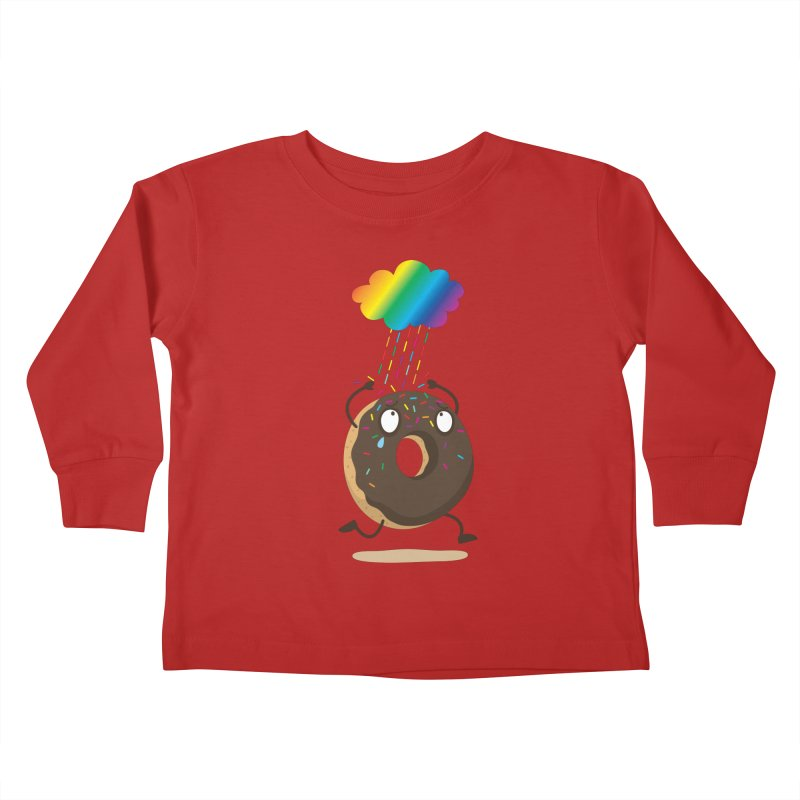 Rainbow Sugar Rain Kids Toddler Longsleeve T-Shirt by hookeeak's Artist Shop