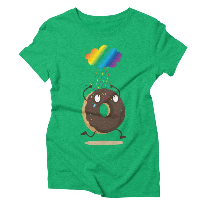 Rainbow Sugar Rain Women's Triblend T-shirt by hookeeak's Artist Shop