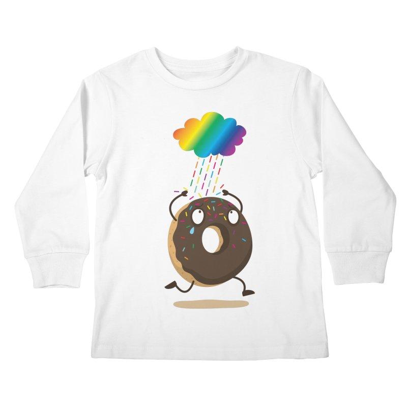 Rainbow Sugar Rain Kids Longsleeve T-Shirt by hookeeak's Artist Shop