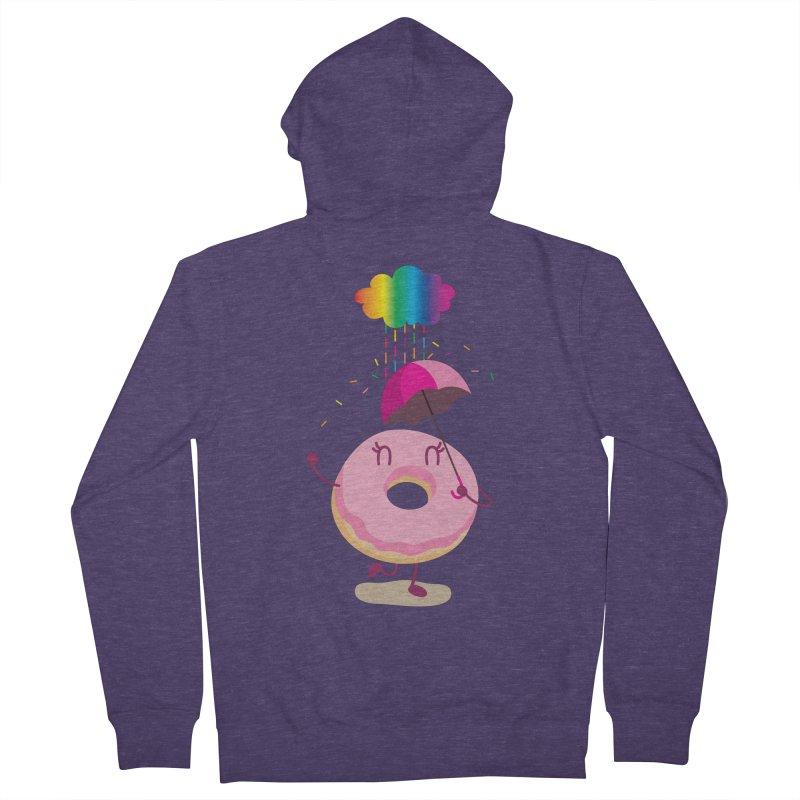 Rainbow Sugar Rain 2 Men's Zip-Up Hoody by hookeeak's Artist Shop