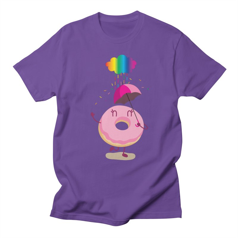 Rainbow Sugar Rain 2 Men's T-Shirt by hookeeak's Artist Shop