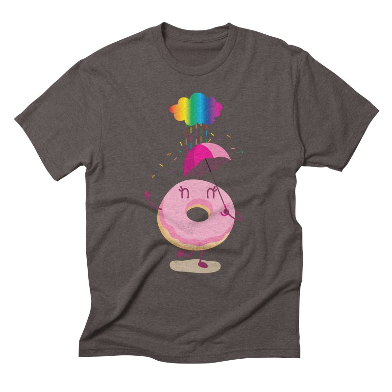 Rainbow Sugar Rain 2 Men's Triblend T-Shirt by hookeeak's Artist Shop