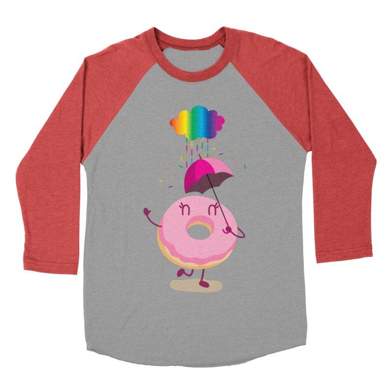 Rainbow Sugar Rain 2 Women's Baseball Triblend T-Shirt by hookeeak's Artist Shop