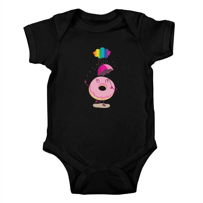 Rainbow Sugar Rain 2 Kids Baby Bodysuit by hookeeak's Artist Shop