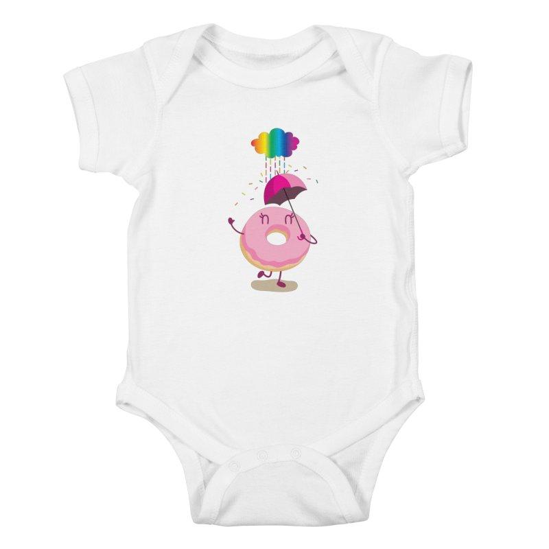 Rainbow Sugar Rain 2 Kids Baby Bodysuit by hookeeak's Artist Shop
