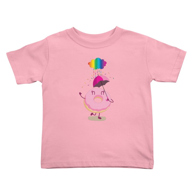 Rainbow Sugar Rain 2 Kids Toddler T-Shirt by hookeeak's Artist Shop
