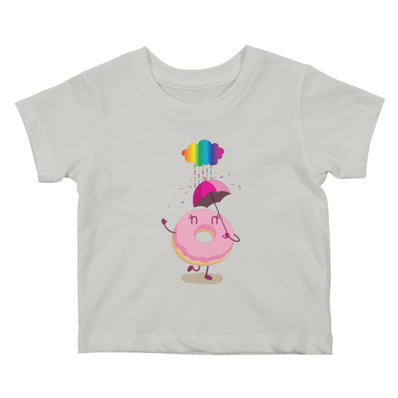 Rainbow Sugar Rain 2 Kids Baby T-Shirt by hookeeak's Artist Shop