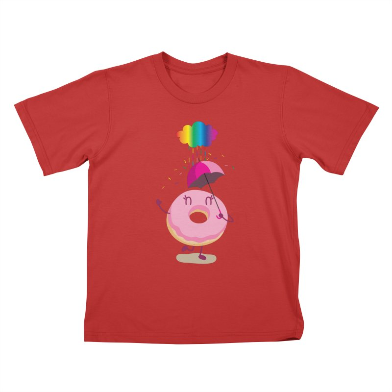 Rainbow Sugar Rain 2 Kids T-Shirt by hookeeak's Artist Shop