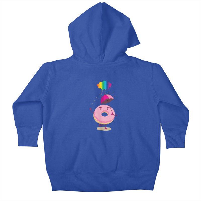 Rainbow Sugar Rain 2 Kids Baby Zip-Up Hoody by hookeeak's Artist Shop