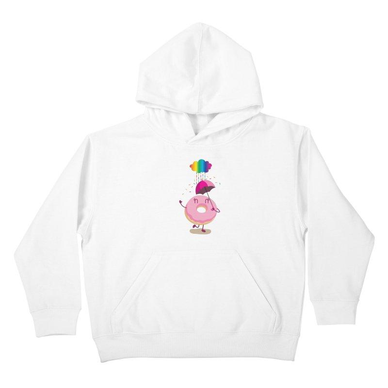 Rainbow Sugar Rain 2 Kids Pullover Hoody by hookeeak's Artist Shop