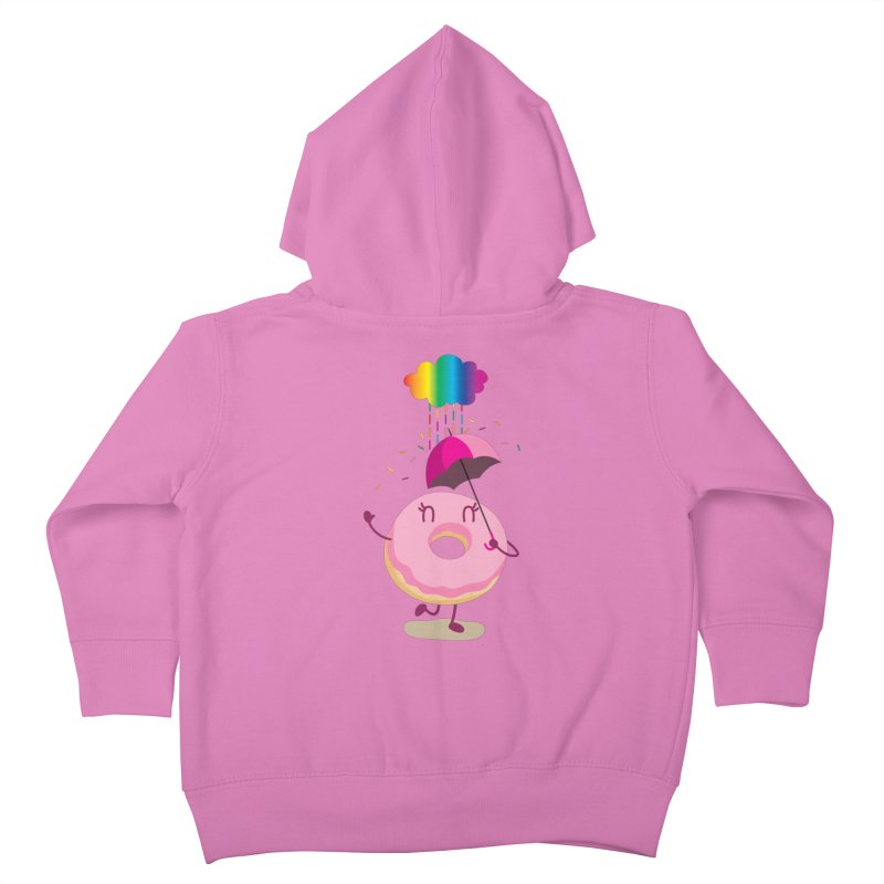 Rainbow Sugar Rain 2 Kids Toddler Zip-Up Hoody by hookeeak's Artist Shop