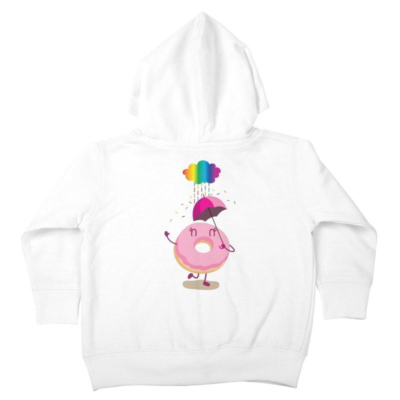 Rainbow Sugar Rain 2 Kids Toddler Zip-Up Hoody by hookeeak's Artist Shop