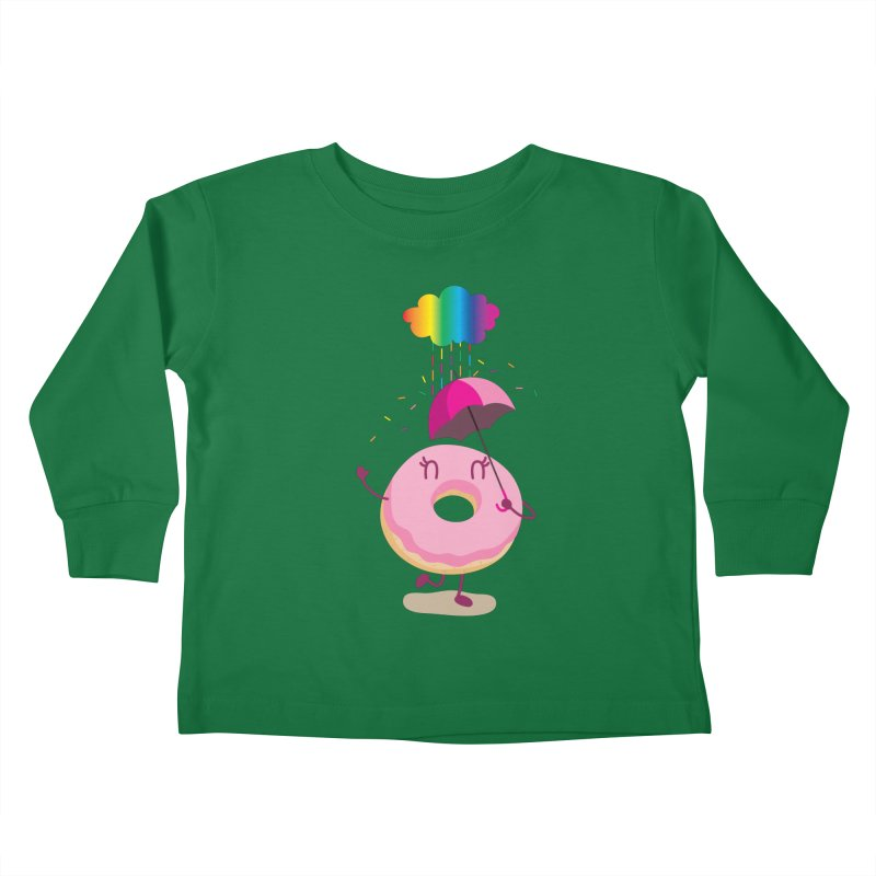 Rainbow Sugar Rain 2 Kids Toddler Longsleeve T-Shirt by hookeeak's Artist Shop