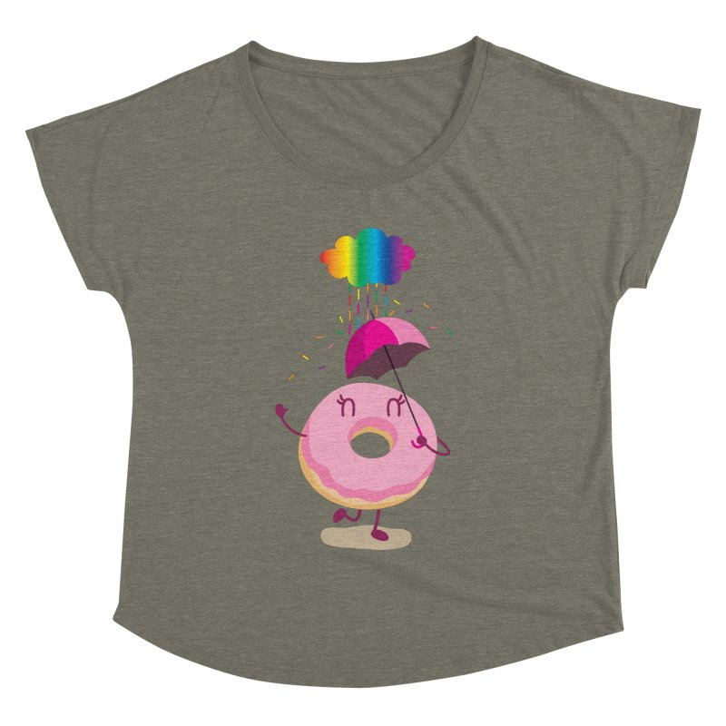 Rainbow Sugar Rain 2 Women's Dolman by hookeeak's Artist Shop