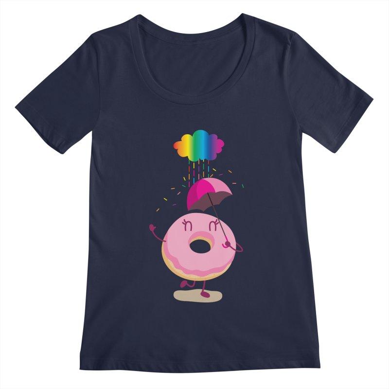 Rainbow Sugar Rain 2 Women's Scoopneck by hookeeak's Artist Shop